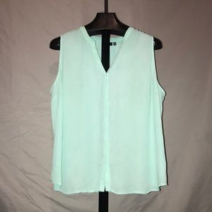 Apt 9 plus size tank top button up 2X